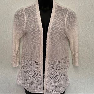 Women's White Coverup Sweater Size XL
